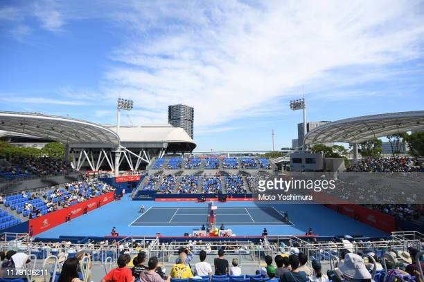 On day five of the Rakuten Open at the Ariake Coliseum on October 05, 2019 in Tokyo, Japan.