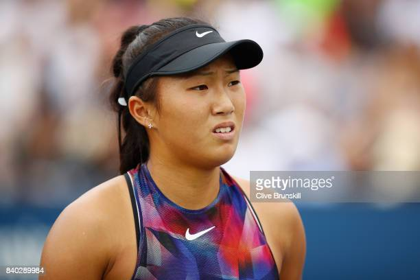 on Day One of the 2017 US Open at the USTA Billie Jean King National Tennis Center on August 28 2017 in the Flushing neighborhood of the Queens...
