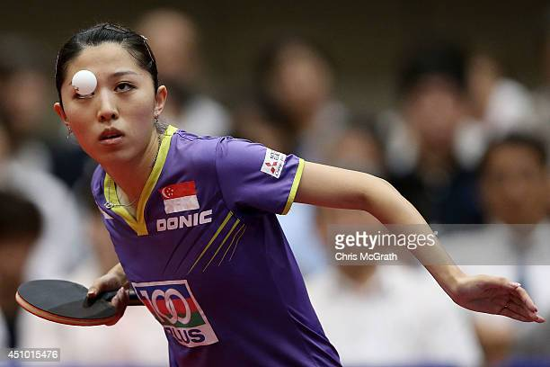 On day three of 2014 ITTF World Tour Japan Open at Yokohama Cultural Gymnasium on June 22, 2014 in Yokohama, Japan.