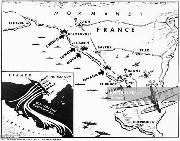 On DDay June 6 the Allies launched the greatest amphibious attack in history to punch holes in Hitler's Atlantic Wall Six Allied combat divisions...