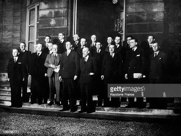 On December 21 Prime Minister De Gaulle Presented His Second Governmental Cabinet To The Press Made Up Of Various Political Tendencies Pictured...
