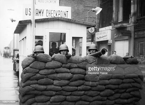 On December 4 At Checkpoint Charlie On Friedrichstrasse In BerlinWest 4 Months After The Start Of Construction Of The Wall That Separates The City...