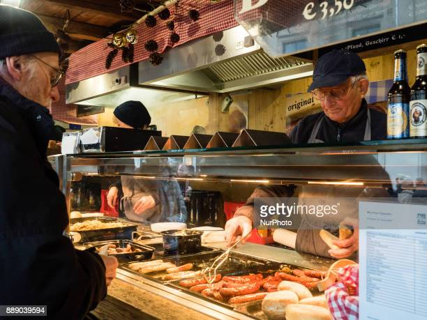 On December 9th 2017 in Munich Germany Munich holds its traditional Christmas Market from November 27th to December 24th 2017 on Marienplatz in the...