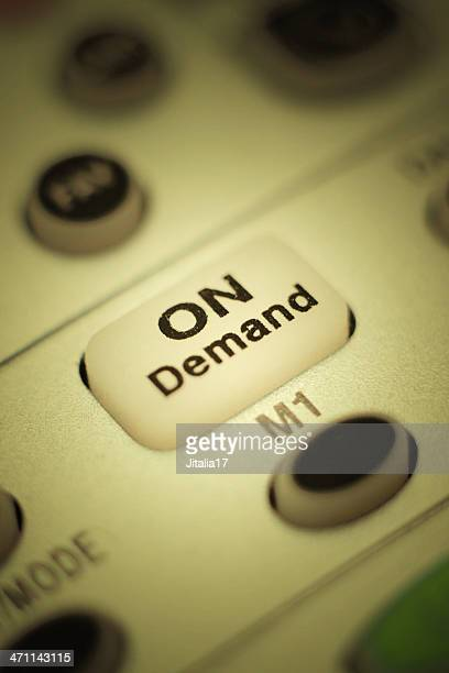 On Demand Button: Close Up Photo of Television Remote Control