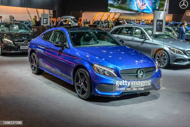 BRUSSELS BELGIUM JANUARY on display at Brussels Expo on January 13 2017 in Brussels Belgium The MercedesBenz CClass is available as 4door saloon...