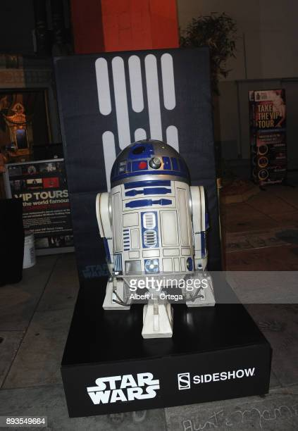 R2D2 on display from Sideshow Collectibles at the Opening Night Celebration Of Walt Disney Pictures And Lucasfilm's 'Star Wars The Last Jedi' At TCL...