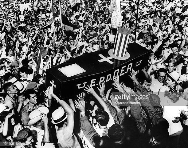 On February 19 after Fidel CASTRO read aloug the 2nd Cuban Constitution a coffin symbolizing the death of the Organization of American States is...