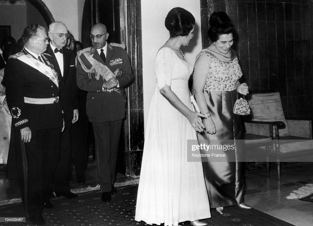 Tito, King Zahir Shah And Their Wives In Afghanistan 1968 : News Photo