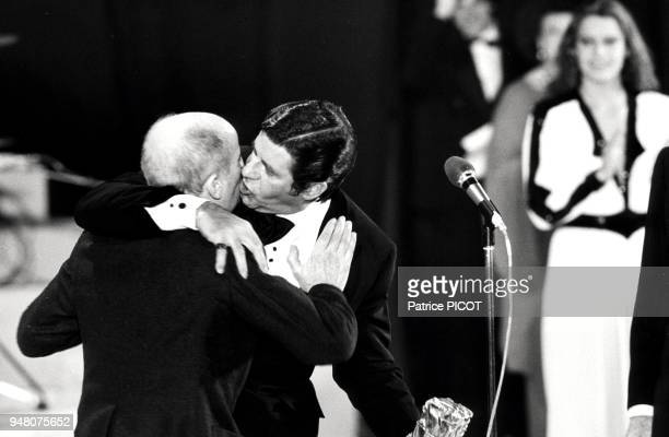 On February 3 the American actor Jerry LEWIS paying tribute to the French actor Louis DE FUNES awarding him with a CESAR on Cesar awards for best...