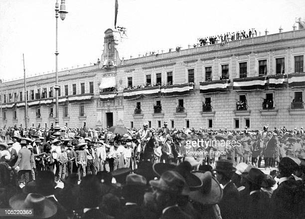 On February 9 1913 In Front Of The Presidential Palace In Mexico City Mexican President Francisco I Madero Gave A Speech Before His People Who...