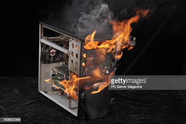 A Pc On Fire To Illustrate Extreme Overclocking Session For Pc Gamer News Photo Getty Images