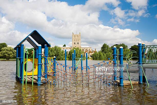 On Friday 20th July 2007 up to 5 inches of rain fell across central and southern England on already saturated ground Rivers rose rapidly and by saturday flooding started to occur along the Severn corridor Tewkesbury in Gloucestershire was particularly bad