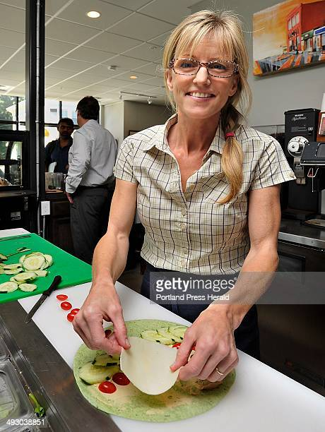 On Friday August 16 Jeannie Dunnigan owner of Cia Cafe with her husband makes a veggie rollup with fresh local produce some ingredients are fresh...