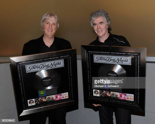 On Friday, August 22 Cory Wells and Danny Hutton, Founding Members of Three Dog Night were Presented with a Plaque by Bruce Resnikoff, President and...