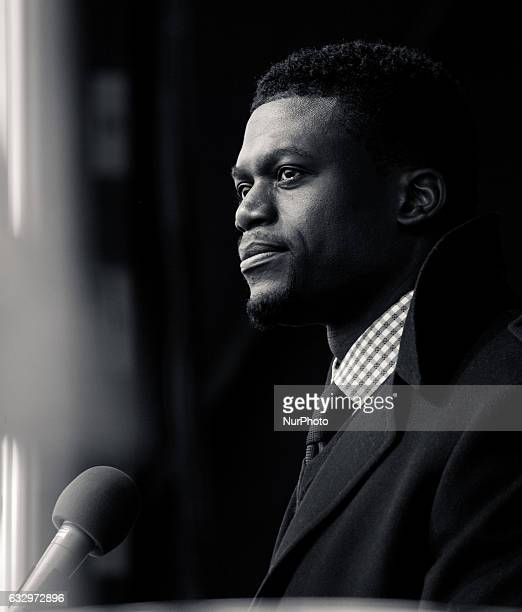 On Friday January 27 Benjamin Watson Tight End for the Baltimore Ravens speaks to participants at the 44th Annual March For Life at the base of the...