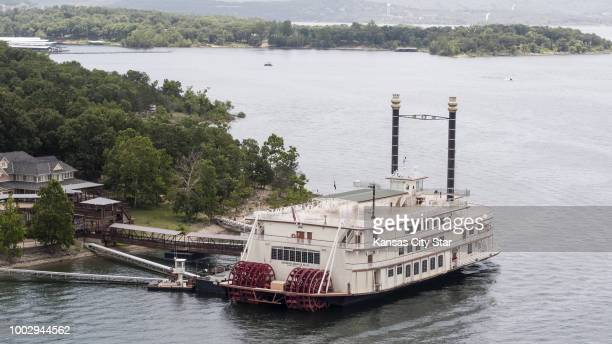 On Friday July 20 the Branson Belle tour boat is docked on Table Rock Lake near Branson Mo where an amphibious vehicle capsized on Thursday July 19...