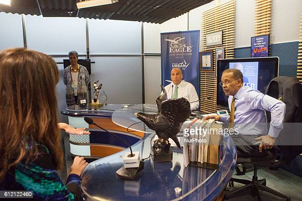 On Friday March 11 in Washington DC guests ask questions of United States Senator Cory Booker on the Joe Madison show on XM Satellite radio