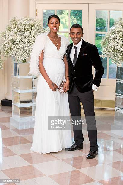 C On Friday May 13 at the White House Chef Marcus Samuelsson and his wife the model Maya Haile arrive for the Nordic State Dinner