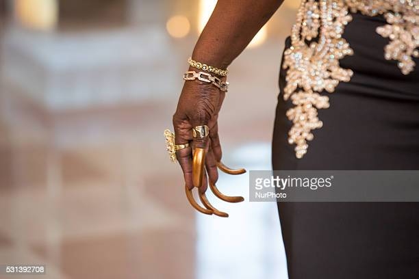 C On Friday May 13 at the White House singer Glodean White's nails