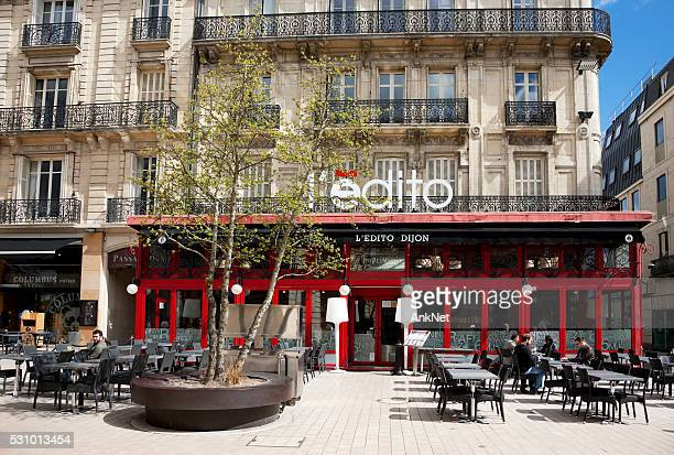On front of L'Edito cafe in Dijon, France