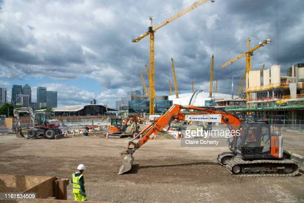 On going construction work at the Design District site in Greenwich Peninsula in London United Kingdom on 15th August 2019 Scheduled to fully open in...