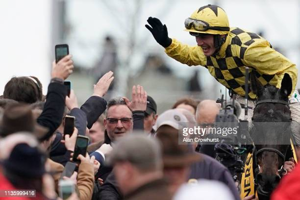 On Gold Cup Day at Cheltenham Racecourse on March 15, 2019 in Cheltenham, England.