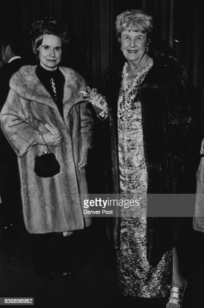 On Hand for Amahl and Holiday Evening Arriving at Bonfils Theatre for a recent performance of current twopart holiday bill are Mrs Bernard Kennedy...