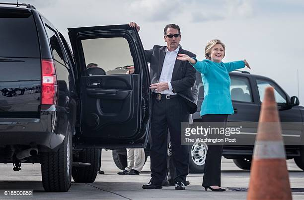MAIMI FL On her 69th birthday with arms wide open Democratic Nominee for President of the United States former Secretary of State Hillary Clinton...