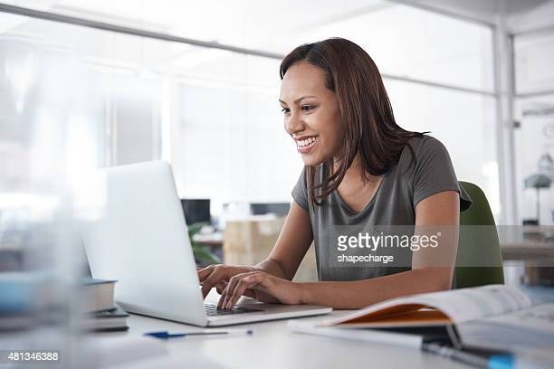 on her way to an a+ - online class stock pictures, royalty-free photos & images