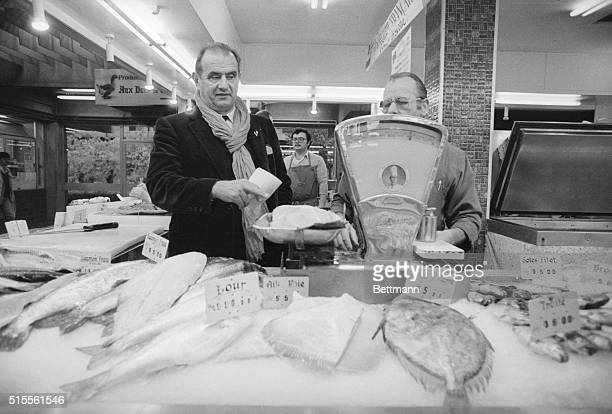 On his early morning sweep through the Les Halles Market in nearby Lyon chef Paul Bocuse gathers up a huge salmon sole and monkfish