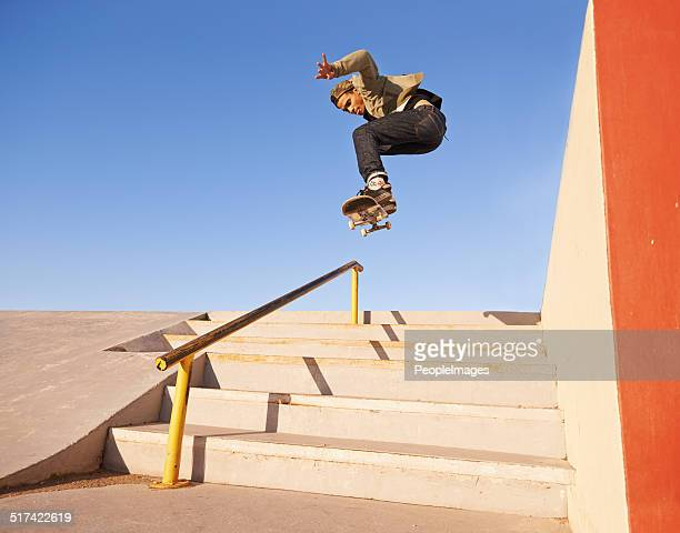 on his grind - skating stock photos and pictures