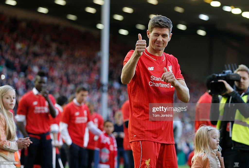Steven Gerrard's final match at Anfield : News Photo