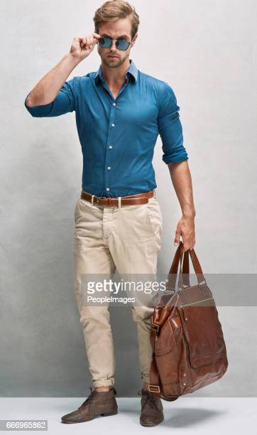 on his way in style - open collar stock photos and pictures
