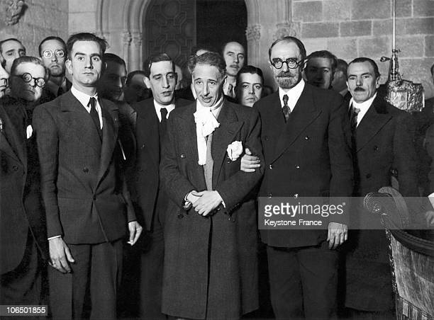 On January 1 Lluis Companys Was Voted The Head Of The Generalitat Of Barcelona He Is Seen With Moles The Governor General Of Catalonia On October 6...