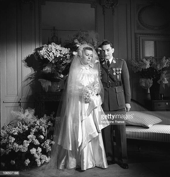 On January 2 1946 General De Gaulle'S Daughter Married Captain De Boissieu Squadrons Chief 2Nd Db Former Officer And Member Of De Gaulle Military...
