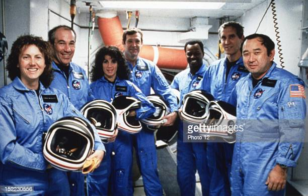 On January 28 space shuttle Challenger exploded 73 seconds after its takeoff from Kennedy Space Center in Cap Canaveral Florida On the picture...