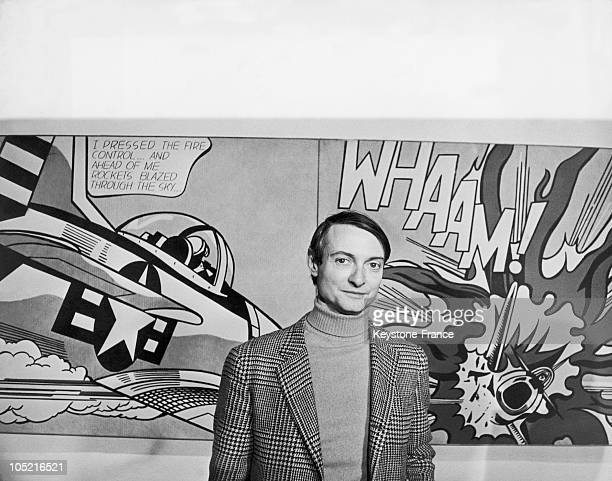 On January 5 Roy Lichtenstein One Of The Last Representatives Of Pop Art Is In Front Of One Of His Works Whaam Which Incorporates In A Diverting Way...