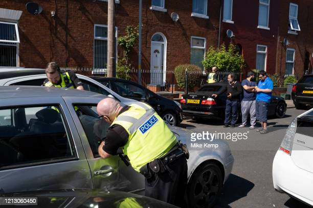On John Street in the inner city area of Lozells police chased a car up a dead end and arrested the driver after he had crashed into other cars...