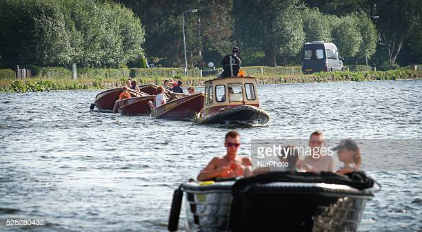 LEIDSCHENDAM NETHERLANDS on July 11 2015 A recent heatwave has ended and temperatures have dropped by almost ten degrees The cooling down has not...