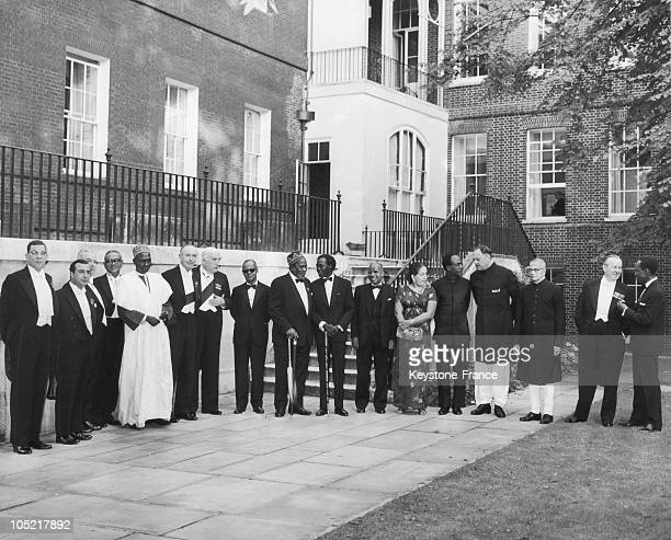 On July 14 In The Garden Of 10 Downing Street Sangster Kyprianou Holyoake Tunku Rahman Abubakar Tafawa Balewa Alec DouglasHome Robert Menzies Eric...