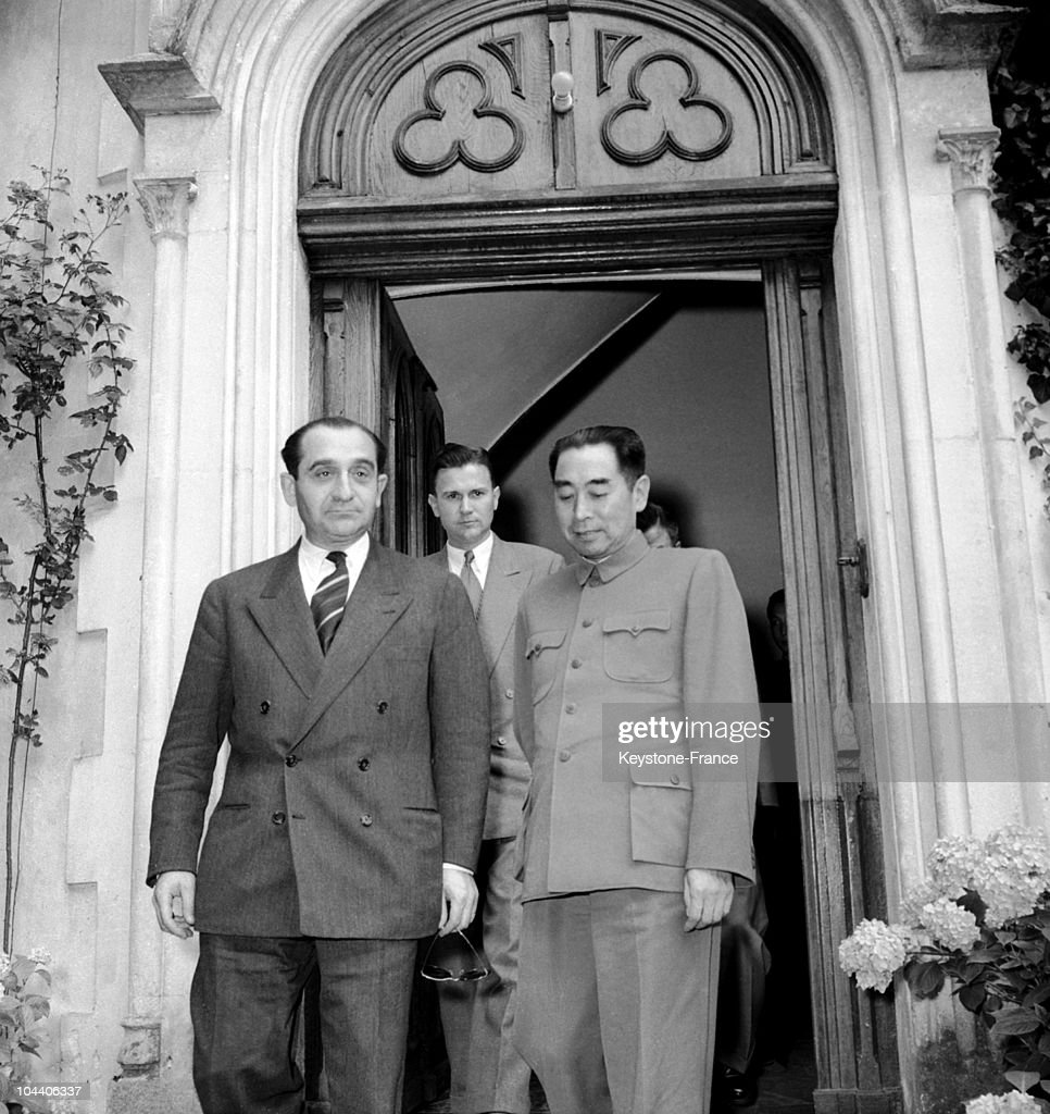 Mendes France And Zhou En Lai At The Geneva Conference 1954 Pictures