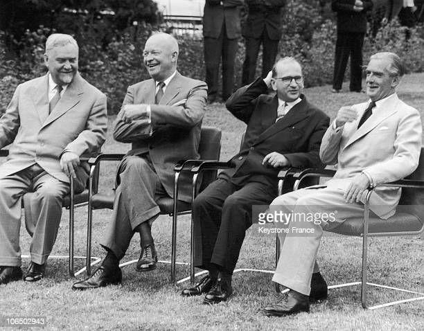 On July 20 The Soviet Premier Boulganine The President Of The United States Eisenhower The French Premier Edgar Faure And British Prime Minister...