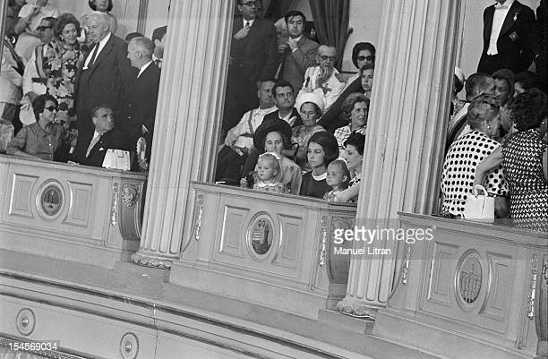 On July 24 in an opinion of the Palace of Cortes in Madrid Spain Sophia GREEK the wife of Prince Juan Carlos of Spain with her children when her...