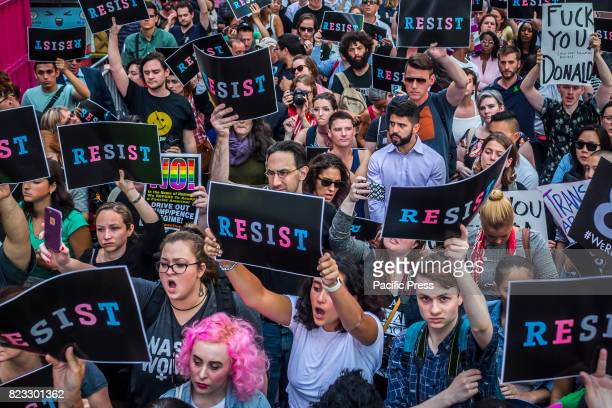 On July 26 after a series of tweets by President Donald Trump which proposed to ban transgender people from military service thousands of New Yorkers...