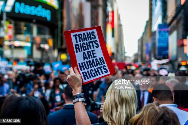 On July 26 after a series of tweets by President Donald Trump, which proposed to ban transgender people from military service, thousands of New...
