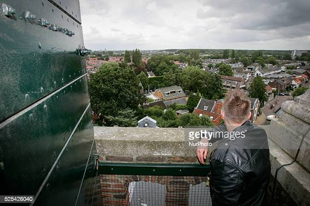 VOORSCHOTEN on July 28 2015 During the yearly horse market the protestant community opened the doors to it's church in the center of town People were...