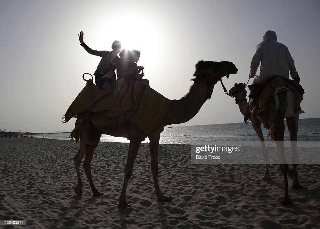 On Jumeirah beach, Dubai. : Stock Photo