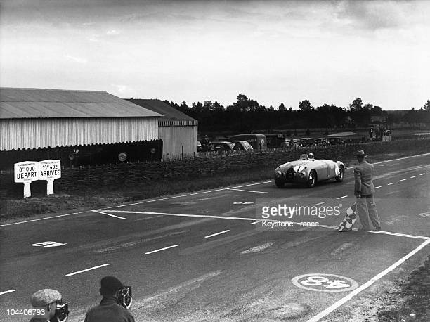 On June 19 at the 24 heures du Mans the drivers JeanPierre WIMILLE and his team mate Pierre VEYRON on a BUGATTI 57G reaching the first the finishing...