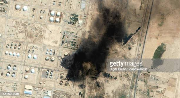 On June 26 QuickBird captured an image over Baiji Iraq showing the countrys largest oil refinery on fire The Iraqi government is claiming it is in...