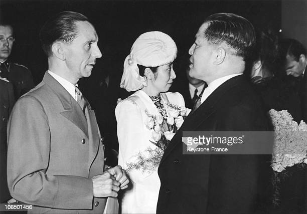 On June 6 The German Propaganda Minister Joseph Goebbels Speaking With The Japanese Ambassador In Germany Hiroshi Oshima On The Projection Of The...